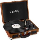 Platenspeler - Fenton RP115F platenspeler in koffer met Bluetooth en ingebouwde speakers - Bruin