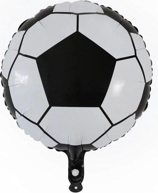 Voetbal Ballon - Sport - 45x45cm - Teamsport - Winnen - Ballonnen - Helium Ballon - Folie Ballon - Kinderverjaardag - Thema feest - EK / WK - Verjaardag - Folie ballon - Leeg - Versiering