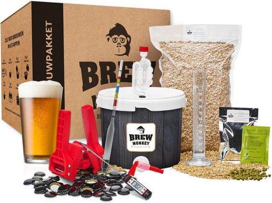 Brew Monkey Compleet IPA - Bierbrouwpakket - Zelf bier brouwen pakket pakket - Startpakket