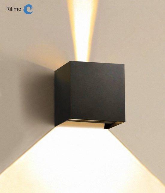 Buitenlamp Met Bewegingsmelder - Kubus Lamp Met Dag Nacht Sensor - Wandlamp Buitenverlichting en bewegingssensor - Muurlamp voor binnen en buiten