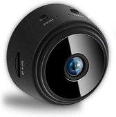 FEDEC WIFI Mini bewakingscamera met gratis app- Dag & Nacht - Inclusief muurbevestiging - Zwart