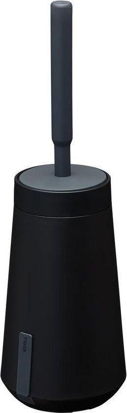Tiger Tess Toiletborstelhouder met Swoop® borstel flexibel - Zwart / Antraciet