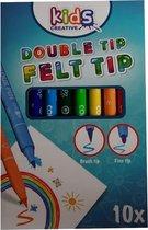 Kids creative viltstift met dubbele punt | Stiften | Kleuren | Tekenen | Knutselen | Stift
