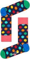 Happy Socks Heren Sokken Big Dot BDO01-6001 - sokken - maat 41-46 - Donkerblauw met stippen gekleurd   Ook geschikt als 'dressed sokken' maar ook als sportsokken en lounge sokken