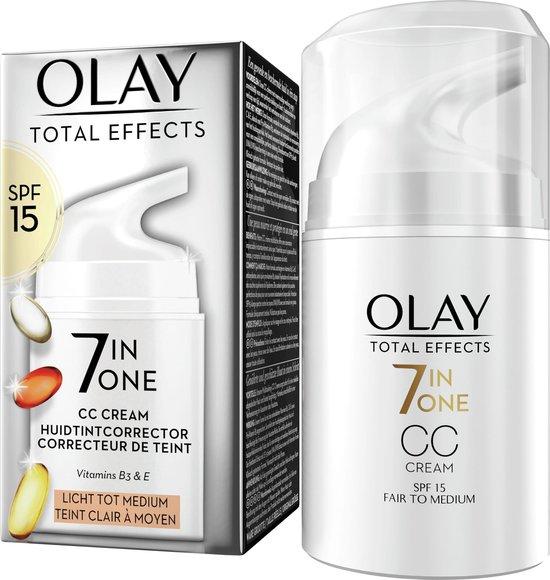 Olay Total Effects 7in1 CC Crème - Licht Tot Medium - Met SPF15 - 50ml
