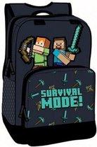 Minecraft rugzak - 36cm - 2 vakken - Survival mode!