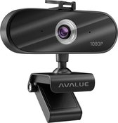 Webcam Voor PC Met Microfoon – Full HD Met 360° Draaibare Camera