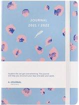 A-Journal Schoolagenda 2021/2022 - Luipaardprint Blauw