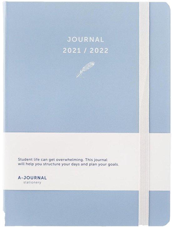 Afbeelding van A-Journal Schoolagenda 2021/2022 - Lavendel Blauw - A5