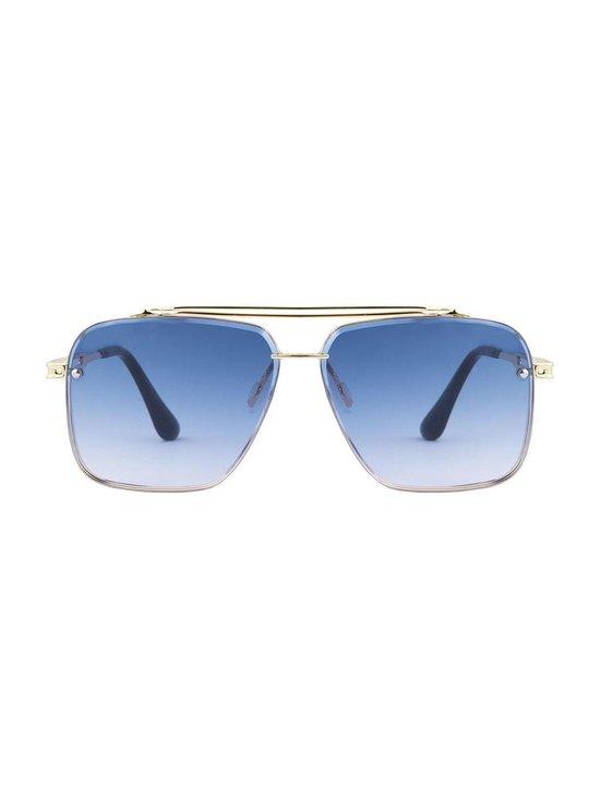 Square aviator sunglasses blue