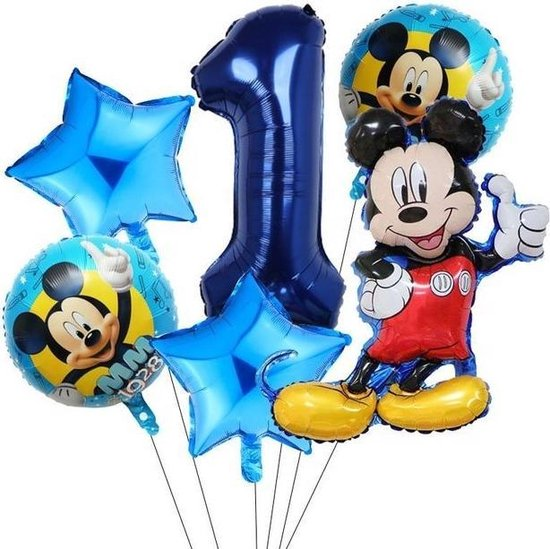 6 Stuks Disney Mickey Minnie Mouse Party Ballonnen 32Inch Nummer Opblaasbare Folie Ball Kids Birthday Decoratie Baby Shower Ballon