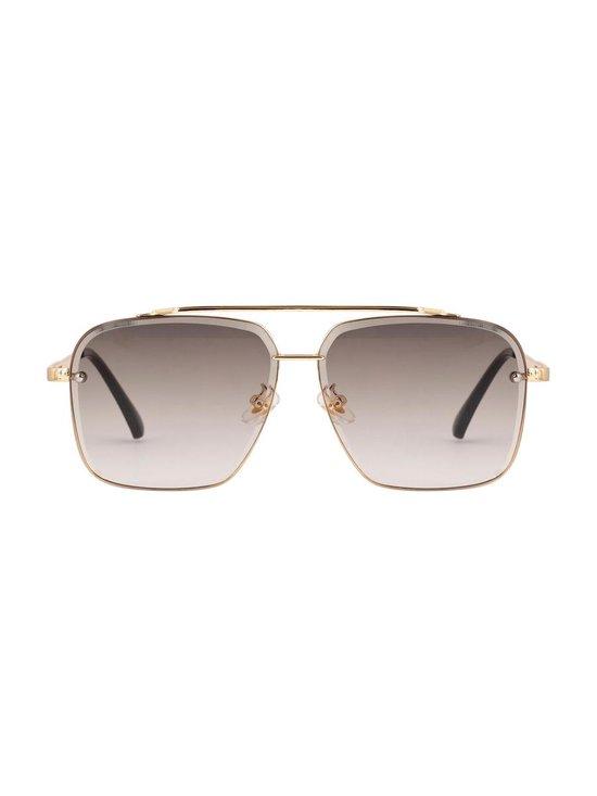 Square aviator sunglasses grey