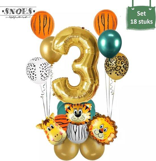 Dieren Ballon Pakket * 3 Jaar * Jungle Ballon * Dieren Feest * Jungle Feest * Verjaardag Feest * Hoera 3 Jaar * Gefeliciteerd * Kinderfeestje * Jungle Party * Snoes