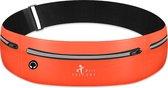 Hardloop Telefoonhouder Hardloopriem Lightweight Running Belt Heuptas Heren Damen - Sportband - Heuptas - Hardlooptasje - Hardlopen - Oranje - One Size