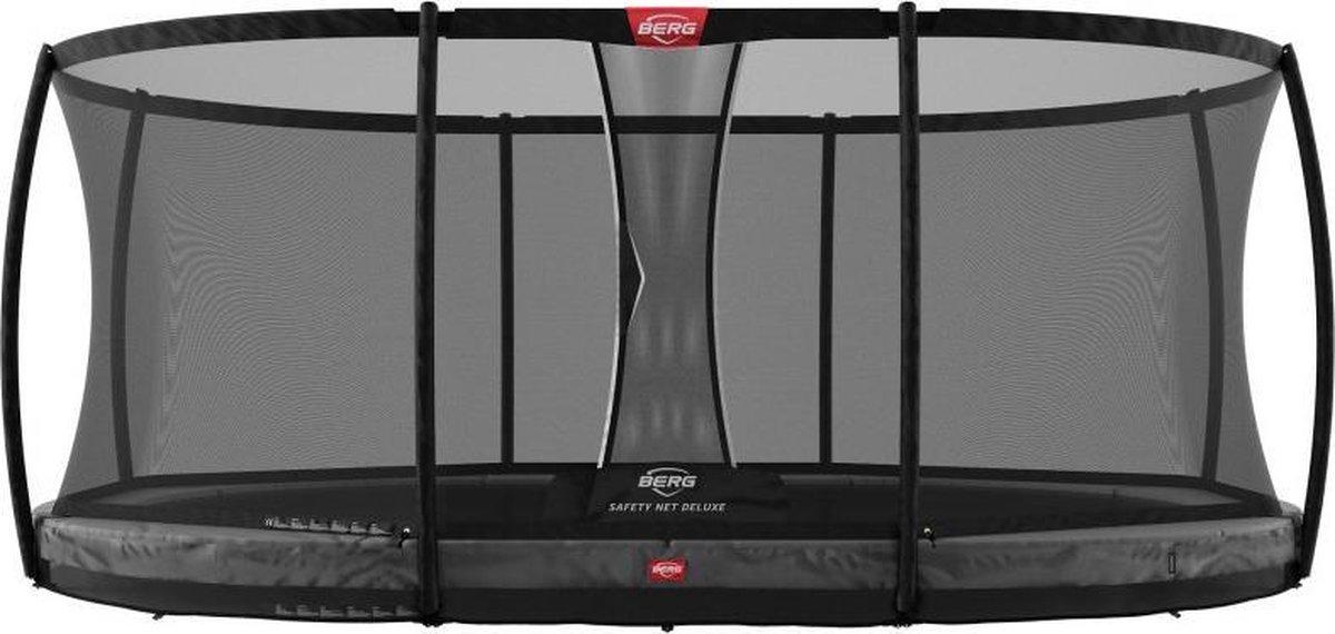 BERG Grand Champion InGround 350 x 250 cm Ovaal + Safety Net Deluxe - grijs - TwinSpring - Airflow