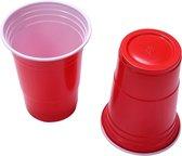 Red cups-25 stuks-Drank spel-American cups-beerpong bekers-bier pong-rood-bier spel-party cups-473ml