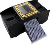 Hurkens Enterprise kaartschudmachine - inclusief GRATIS 2 pakjes speelkaarten + GRATIS 4 AA batterijen - Geschikt voor vele kaartspellen