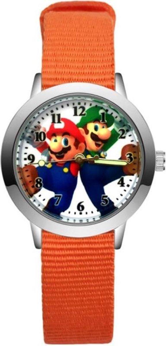 Super Mario - Kinderhorloge - Mario - Horloge - Mario Kart - Mario Speelgoed - Oranje