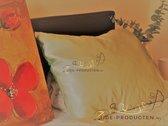 Zijden kussensloop, 100% moerbei zijde, kwaliteit 22 Momme, kleur Beige, maat 50x70 cm
