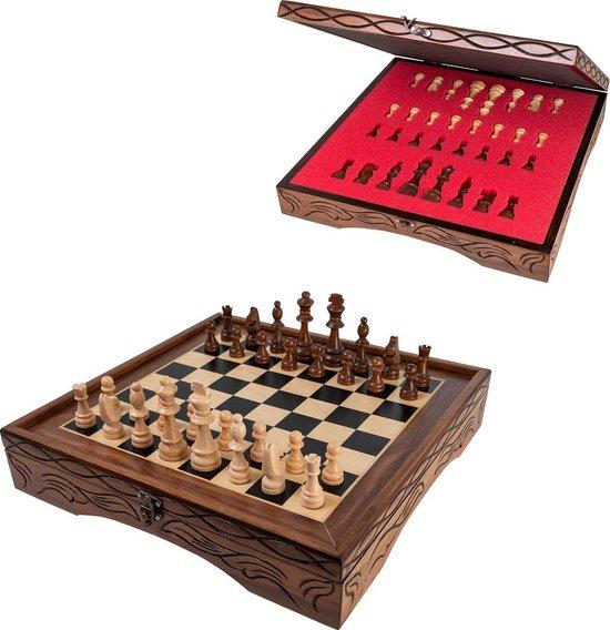 Schaakbord - Compleet met houten schaakstukken - Schaakspel - Schaakset - Bordspel - Volwassenen - Schaken - Chess - 40 x 40 cm