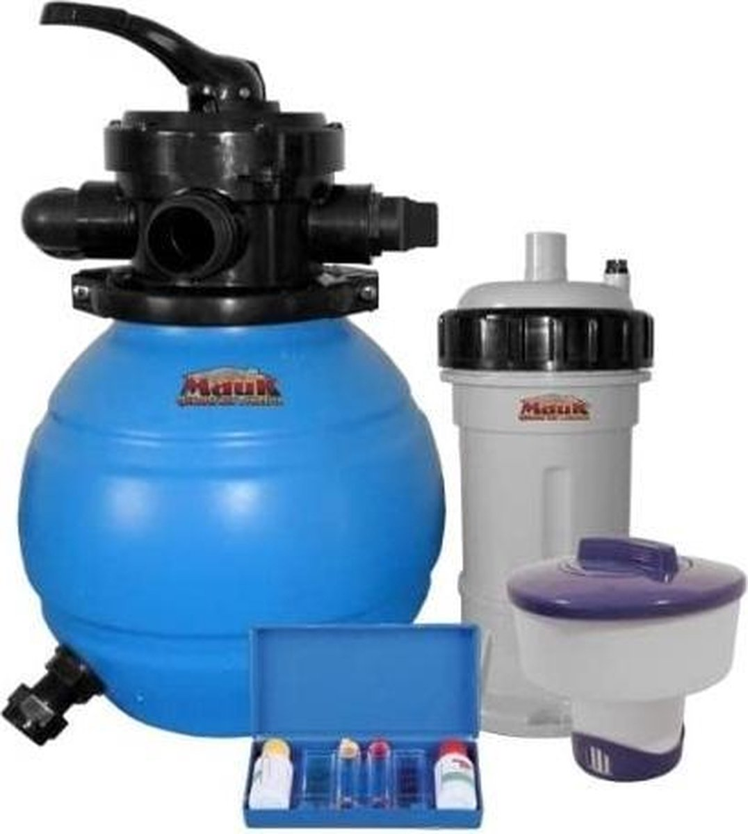 zwembad filter-mak 1601 zandfiltersysteem 90 w met chloordispenser en testkit, 12 l - (WK 02123)