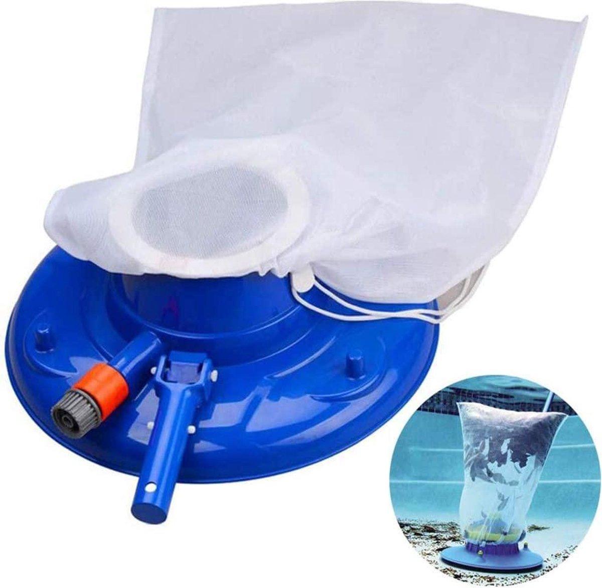 zwembadstofzuiger -civiky zwembad cleaner nozzles zwembad vacuüm cleaner vacuüm hoofd zwembad schoonmakende vloer cleaner basis zwembad handige zuigkop met snelle reiniging blauw - (WK 02123)