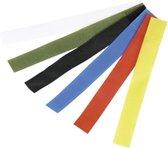 Klittenband strips assortiment 6 stuks - Labelen - Kleuren