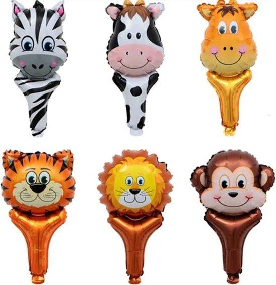 Verjaardag Stoere Dieren XL Ballonnen Jungle / Safari | Aap - Tijger - Leeuw - Giraffe - Koe - Tijger - Zebra | Decoratie ballon | Kids Feest / Feestje - Party - Birthday - Fotoshoot  | DH collection