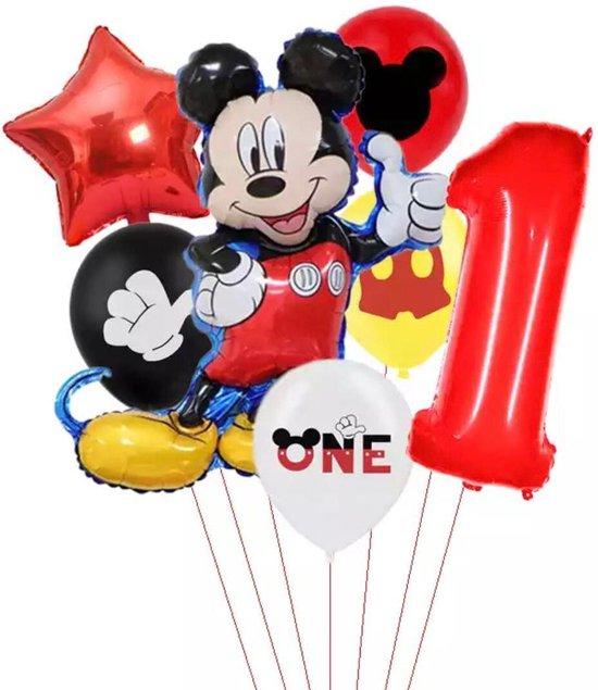 Disney Mikey  Folie Ballonnen Set Mickey Mouse Ballon 7 stuks  Verjaardagsfeestje Decoratie -1jaar