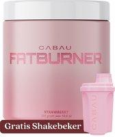 Cabau Lifestyle - Fatburner / Verbrander - Stimuleert vetverbranding - Aardbei smaak - 300 gram - Gratis shakebeker