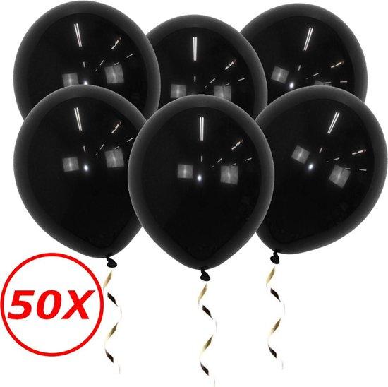 Zwarte Ballonnen Verjaardag Versiering Zwarte Helium Ballonnen Halloween Feest Versiering Zwart 50 Stuks