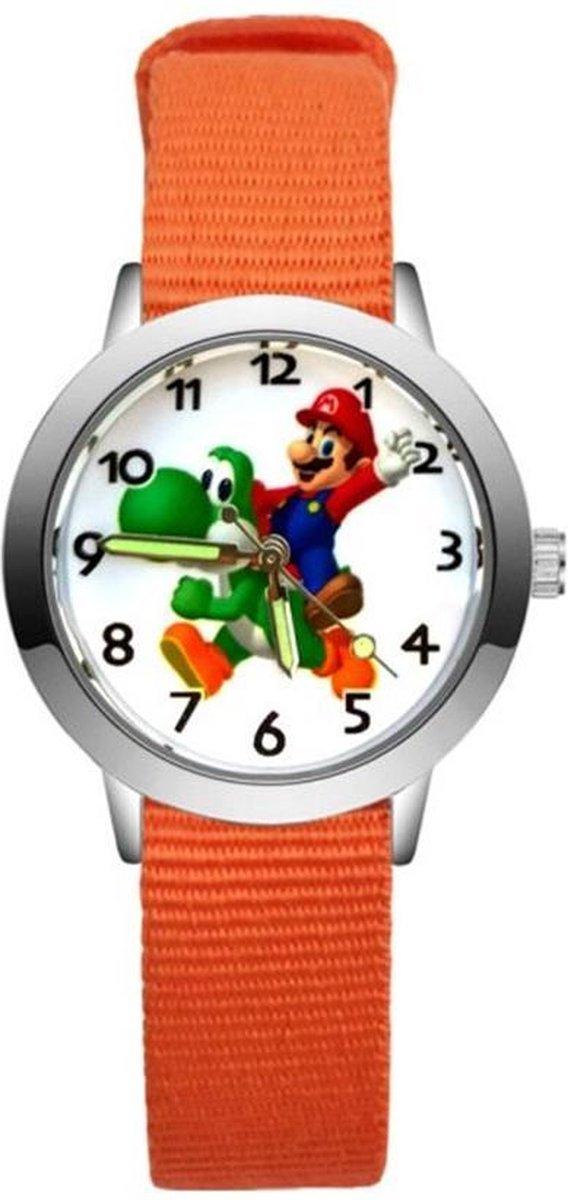 Super Mario - Kinderhorloge - Mario - Horloge - Mario Kart - Mario Speelgoed - Oranje/Yoshi