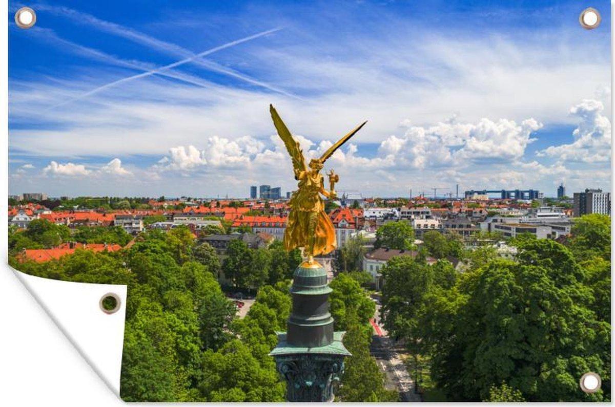 Muurdecoratie München - Duitsland - Fontein - 180x120 cm - Tuinposter