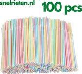 Rietjes   Kleuren rietjes  AG Products   10 stuks  Herbruikbaar   Regenboog  