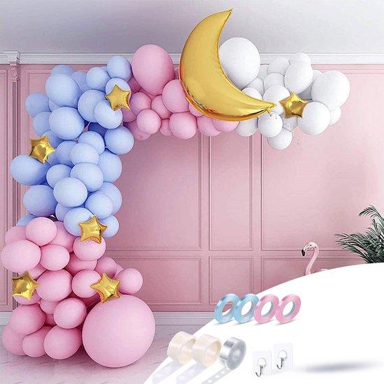 Fissaly® Gender Reveal & Babyshower Ballonnenboog Blauw & Roze – Jongen of Meisje Versiering - Boy or Girl Decoratie