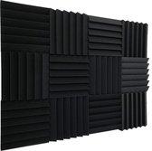 Akoestische panelen - geluidsisolatie - studioschuim - zelfklevend - noppenschuim - isolatieplaten - 25mm - 12 stuks