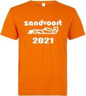 T-shirt oranje Zandvoort 2021 raceauto | race supporter fan shirt | Grand Prix circuit Zandvoort | Formule 1 fan | Max Verstappen / Red Bull racing supporter | racing souvenir | maat L