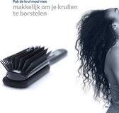Pilystel Nylon Brush – Haarverzorging – Haarborstel – Anti klit haarborstel – Extensions – Haarelastiekjes - Zwart - + Gratis reistas