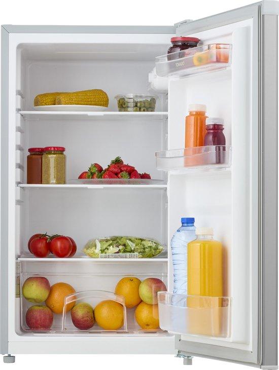 Koelkast: Tomado TLT4801S - Tafelmodel koelkast - 91 liter - 3 draagplateaus - zilver, van het merk Tomado
