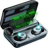 Bluetooth Oordopjes - Oordopjes Draadloos - Draadloze Oordopjes - Met Oplaadcase & Microfoon - Zwart