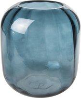 Cosy @ home Vaas petroleum blauw rond glas 18x18xh20 optic