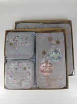 48 luxe kerstkaarten-kerst- en nieuwjaarskaarten met enveloppen- Dubbele kaarten met enveloppen - Goud