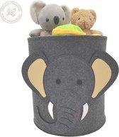Speelgoedmand Kinderen – Opbergmand Kinderkamer Wasmand – Kind Opbergzak speelgoed – Speelgoedkist decoratie - Olifant