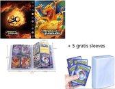 Pokémon Verzamelmap + 5 gratis sleeves – Voor pokemon kaarten – 240 kaarten - pokemon map - opslag - mapje - pocket - opbergmap – opberg – pokemon verzamelmap – pokemon box – mini portfolio – verzamelmap groot - kaartspel