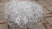 Stilo Ilumi Kroonluchter zilver 70cm doorsnede 35 hoog Aluminium draad kriskras gebogen