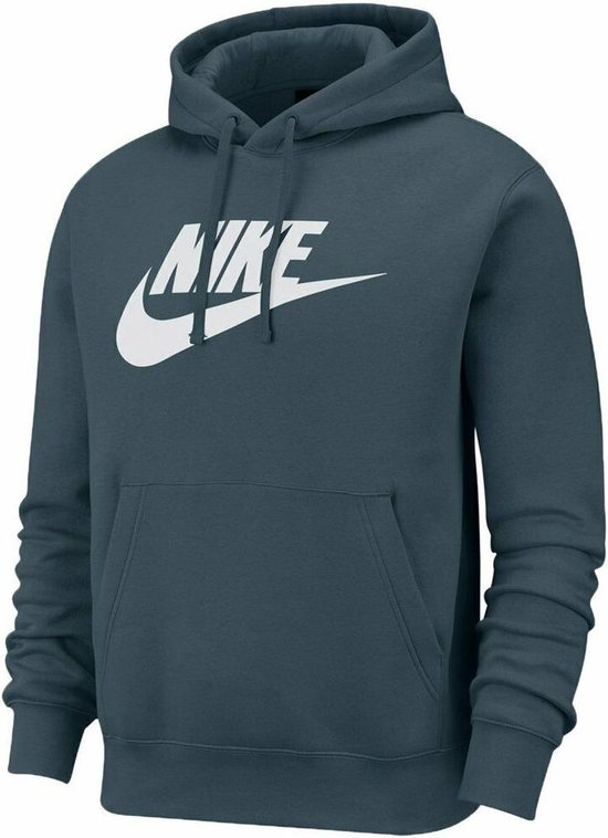 Nike Men's Sportswear Club Hoodie Groen/Wit XL