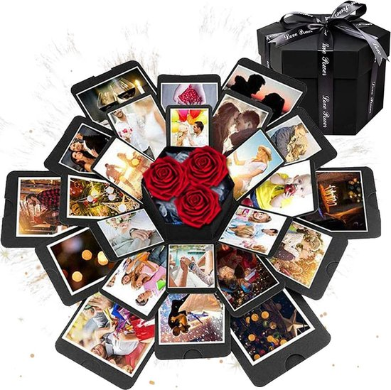 AWEMOZ® Explosion Box - Foto box - Mystery Box - Unieke Geschenkdoos - Explosie box - Foto Doos - Knutselen - Liefdes Cadeau Voor Man En Vrouw
