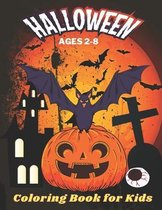 Halloween Coloring Book for Kids Ages 2-8