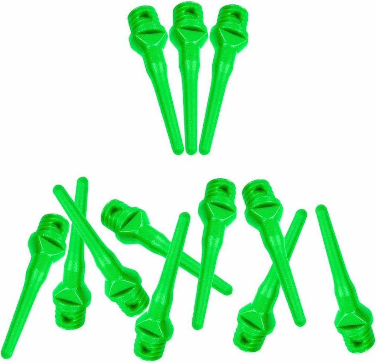 ABC Darts - Softtip Dartpunten 25 mm - Neon Groen - ca 1000 stuks