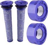 Peachfull Premium Stofzuiger Filter - Vervangingsfilter Set voor Dyson - Stofzuiger Onderdelen - 5 Delig - Dyson V8 en V7 - Blauw